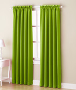 Althea Blackout Rod Pocket Curtains - Lime Green from Lichtenberg Sun Zero