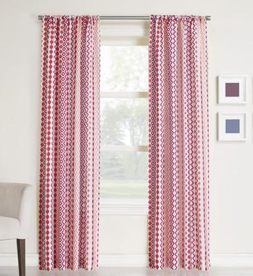 Luis Rod Pocket Curtains - Berry from Lichtenberg