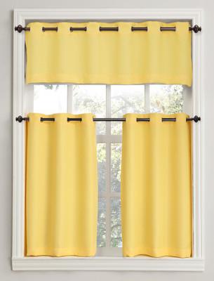Montego grommet curtains - Yellow from Lichtenberg