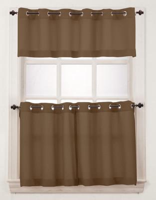 Montego Grommet Top Curtains   Mocha
