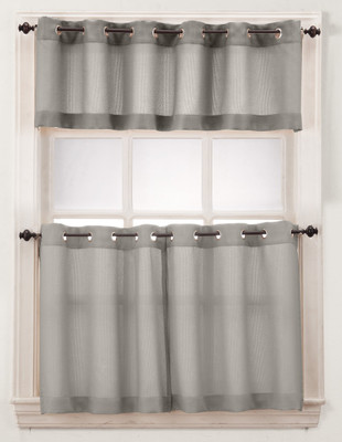 Montego Grommet Top Curtains - Nickel from Lichtenberg