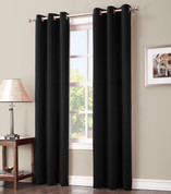 Gareth Sun Zero Blackout Grommet Top Curtain - Black