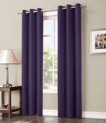 Gareth Sun Zero Blackout Grommet Top Curtain - Blackberry