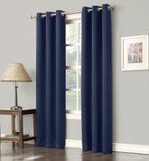 Gareth Sun Zero Blackout Grommet Top Curtain - Navy Blue