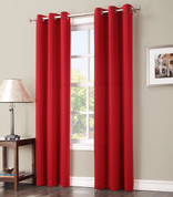 Gareth Sun Zero Blackout Grommet Top Curtain - Red
