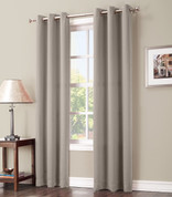 Gareth Sun Zero Blackout Grommet Top Curtain - Stone