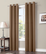Gareth Sun Zero Blackout Grommet Top Curtain - Taupe