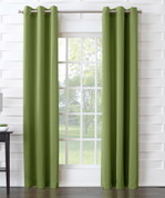 Kingsley Sun Zero Room Darkening Grommet Top Curtain - Avocado