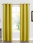 Kingsley Sun Zero Room Darkening Grommet Top Curtain - Citrine