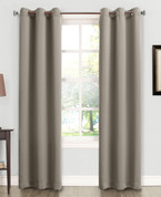 Kingsley Sun Zero Room Darkening Grommet Top Curtain - Stone