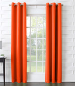 Kingsley Sun Zero Room Darkening Grommet Top Curtain - Tangerine