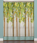 Forest Study Fabric Shower Curtain from Saturday Knight