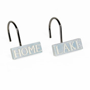 Lake Cabin Retreat Shower Curtain Hooks from Saturday Knight