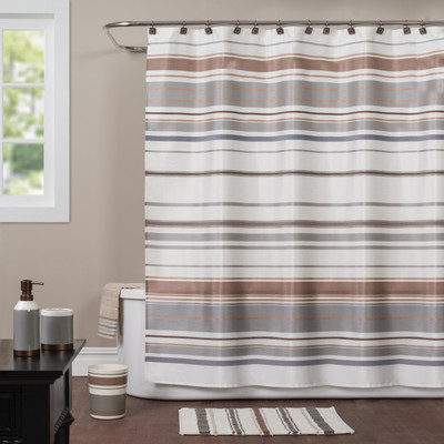 Colorware Stripe Shower Curtain & Bathroom Accessories from Saturday Knight
