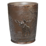 Rustic Montage wastebasket from Creative Bath