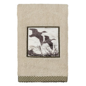 Rustic Montage fingertip towel from Creative Bath