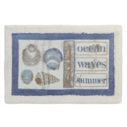 Seaside Seashells Bath Rug from Creative Bath