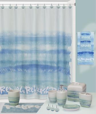 Splash Relax Shower Curtain and Bathroom Accessories - Linens4Less.com