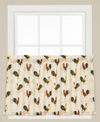 "Tuscan Morning Roosters 36"" kitchen curtain tier from Saturday Knight"