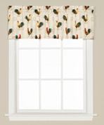 Tuscan Morning Roosters kitchen curtain valance from Saturday Knight