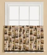 "Vino Wine 36"" kitchen curtain tier from Saturday Knight"
