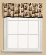 Vino Wine kitchen curtain valance from Saturday Knight