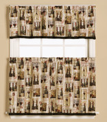 Vino Wine Kitchen Curtain from Saturday Knight