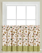 "Homegrown Garden 36"" kitchen curtain tier from Saturday Knight"