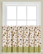 """Homegrown Garden 36"""" kitchen curtain tier from Saturday Knight"""