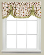 Homegrown Garden kitchen curtain valance from Saturday Knight