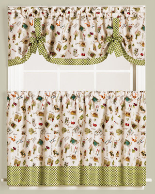 Homegrown Garden Kitchen Curtain from Saturday Knight
