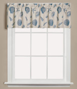 Seychelles seashells kitchen curtain valance from Saturday Knight