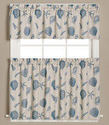 Seychelles Seashells Kitchen Curtain from Saturday Knight