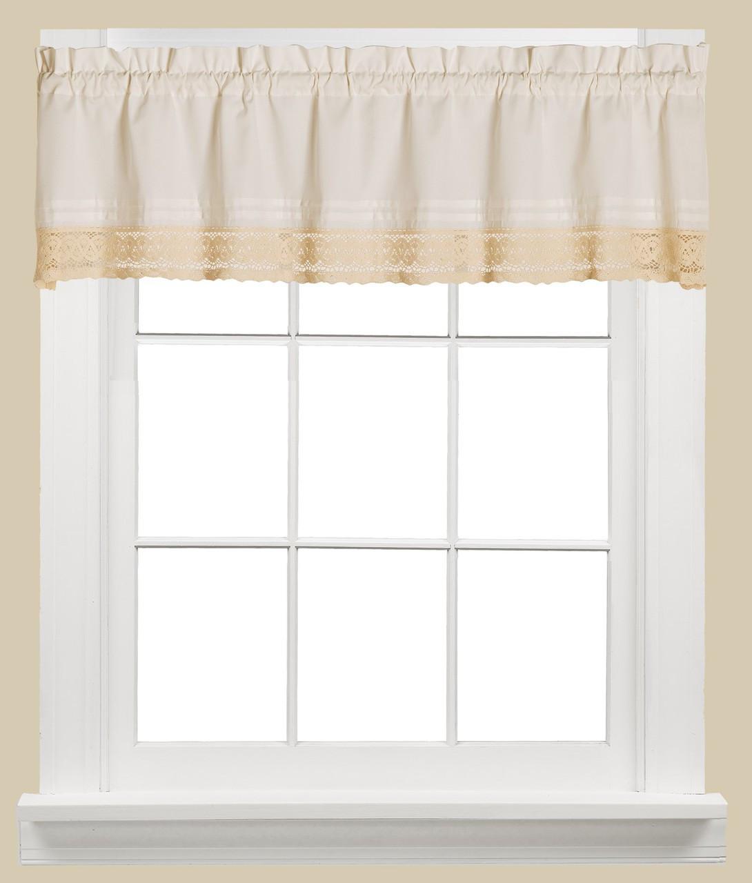 Heritage Lace Kitchen Curtain Valance