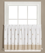 "Welcome Pineapples 36"" kitchen curtain tier from Saturday Knight"