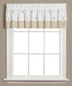 Welcome pineapples kitchen curtain valance from Saturday Knight