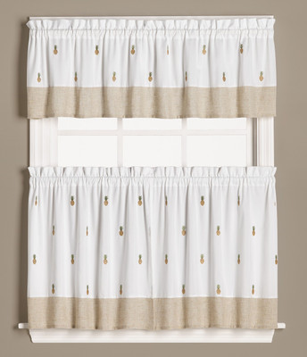 Welcome Pineapples Kitchen Curtain from Saturday Knight