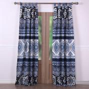 Medina Indigo tab top curtain pair from Greenland