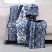 Medina indigo Throw Blanket