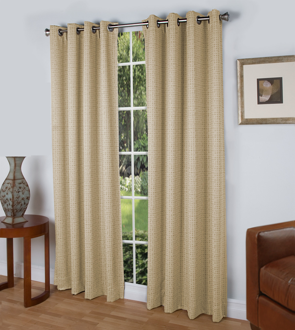 Spanish Steps Blackout Grommet Top Curtain Panel