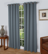 Spanish Steps Blackout Grommet Top Curtain Panels - Slate Blue