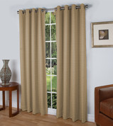 Spanish Steps Blackout Grommet Top Curtain Panels - Beige