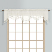 Monte Carlo Sheer fringed scalloped valance - Natural (2 shown in picture)