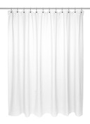 Chevron Weave Extra Long Cotton Shower Curtain - White