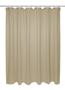 Chevron Weave Cotton Shower Curtain - Dark Linen