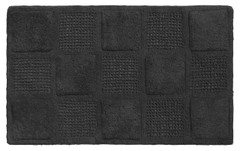 Waffle Weave Cotton Bath Rug - Black