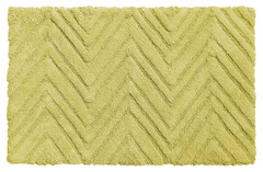 Chevron Weave Cotton Bath Rug - Citron