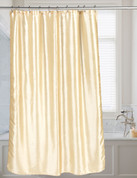 Shimmer Faux-Silk Shower Curtain - Ivory