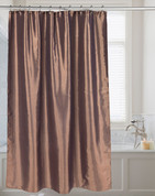 Shimmer Faux-Silk Shower Curtain - Bronze