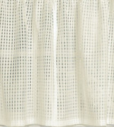 "Gridwork 36"" kitchen curtain tier - Cream"